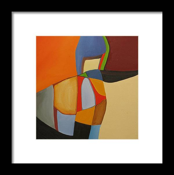 Abstract Framed Print featuring the painting River Bound II by David McKee