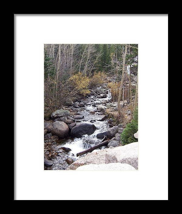 Landscape Framed Print featuring the photograph River by Lisa Gabrius