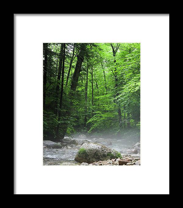 Beauty In Nature Framed Print featuring the photograph River Mist by Brian Stricker
