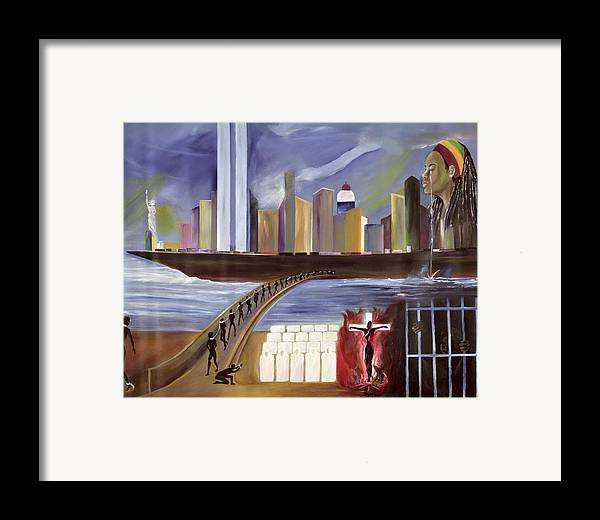 Crossing Framed Print featuring the painting River Of Babylon by Ikahl Beckford