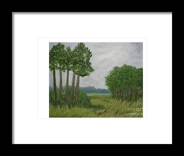 Florida Prairie Framed Print featuring the painting River Of Grass by Hal Newhouser