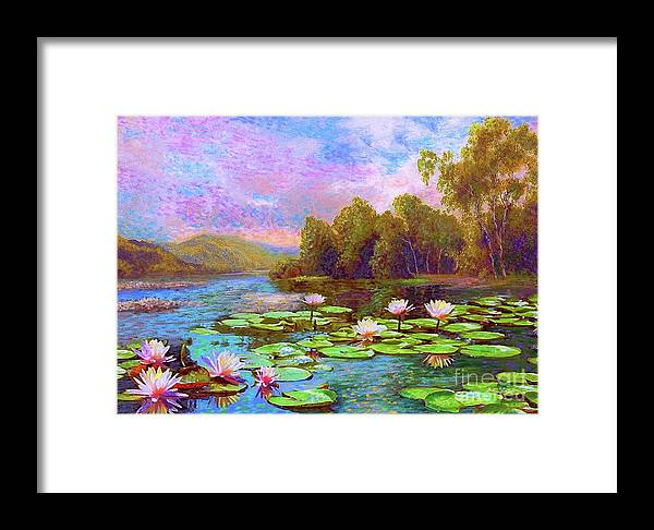 Floral Framed Print featuring the painting The Wonder Of Water Lilies by Jane Small