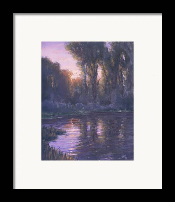 Romantic Light Framed Print featuring the painting River Of Light by Joe Mancuso