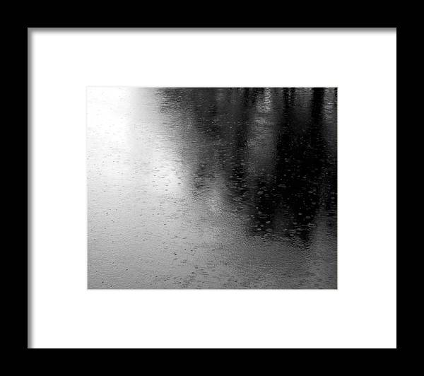 River Framed Print featuring the photograph River Rain Naperville Illinois by Michael Bessler