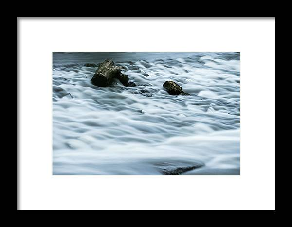 Rapids Framed Print featuring the pyrography River Rapids by Douglas Milligan