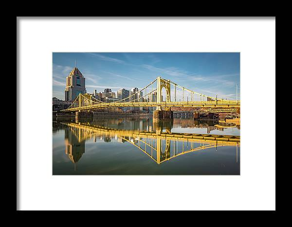 Pittsburgh Framed Print featuring the photograph River Reflection by John Duffy