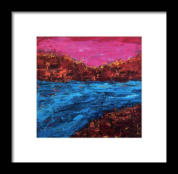 Canvas Print Framed Print featuring the painting River Run by K Batson Art