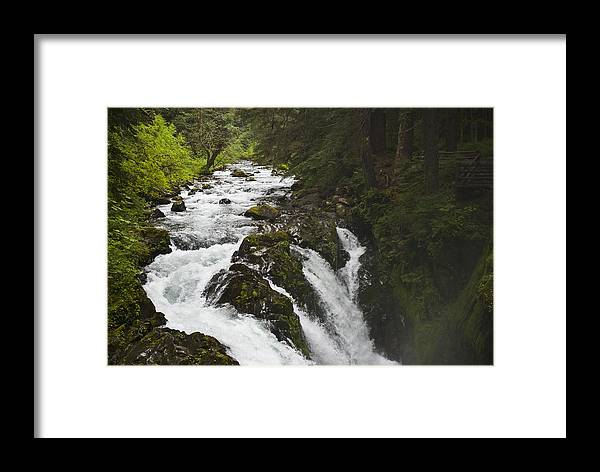 River Framed Print featuring the photograph River Running by Chad Davis