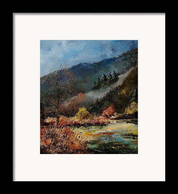 River Framed Print featuring the painting River Semois by Pol Ledent
