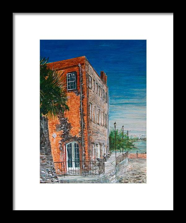 Savannah Framed Print featuring the painting River Street by Pete Maier