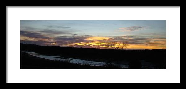 Sunrise Framed Print featuring the photograph River Sunrise One by Ana Villaronga