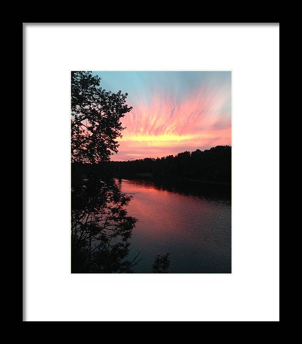 River Framed Print featuring the photograph River Sunset by Shari Chavira
