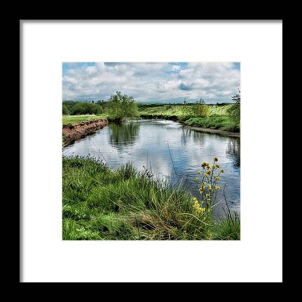 Nature_perfection Framed Print featuring the photograph River Tame, Rspb Middleton, North by John Edwards