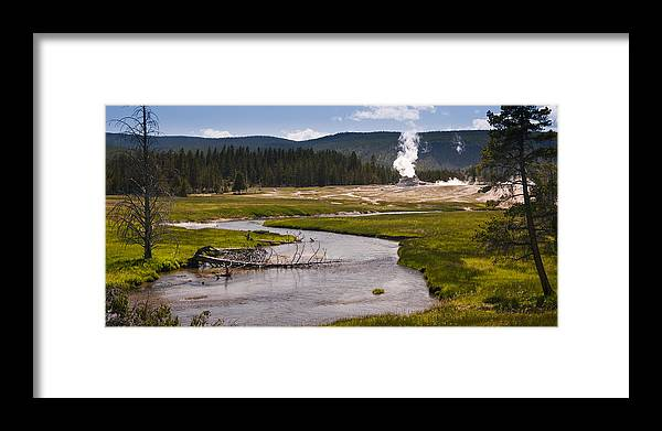 Castle Geyser Framed Print featuring the photograph River View by Chad Davis