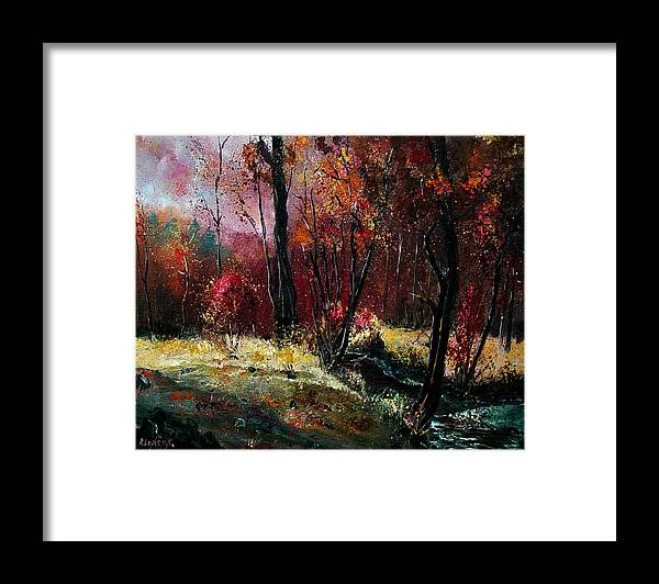 River Framed Print featuring the painting River Ywoigne by Pol Ledent