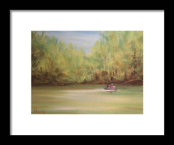 Fishing Framed Print featuring the painting Rivergreen by Pete Maier