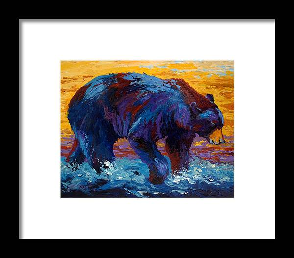 Western Framed Print featuring the painting Rivers Edge II by Marion Rose