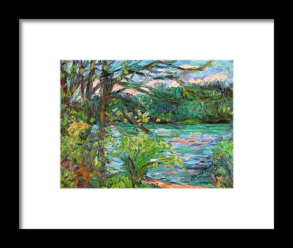 Rivers Framed Print featuring the painting Riverview Spring Stage One by Kendall Kessler