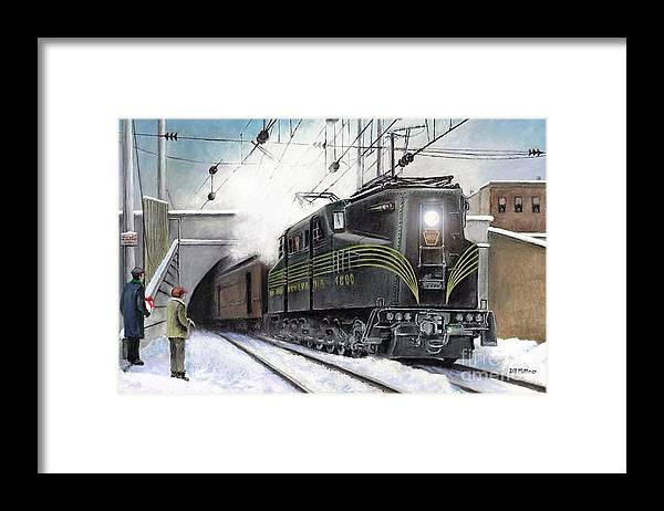 Pennsylvania Railroad Framed Print featuring the painting Rivets by David Mittner