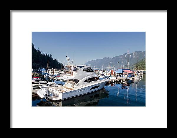 Autumn Framed Print featuring the photograph Riviera 53 Yacht by Michael Russell