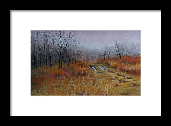 Landscape Framed Print featuring the painting Road Of Hope by Susan Jenkins