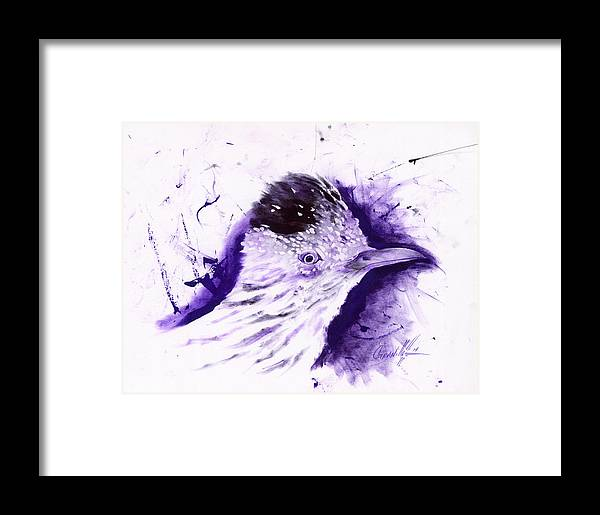 Pen Framed Print featuring the drawing Road Runner by John Paul Granillo