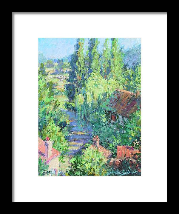 France Framed Print featuring the painting Road to Giverny by L Diane Johnson