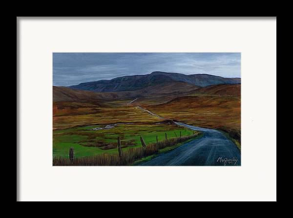 Landscape Framed Print featuring the painting Road To Glenveagh by Laurie McGinley