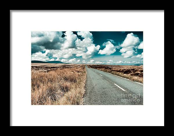 Road Framed Print featuring the photograph Road To Nowhere by Gabriela Insuratelu