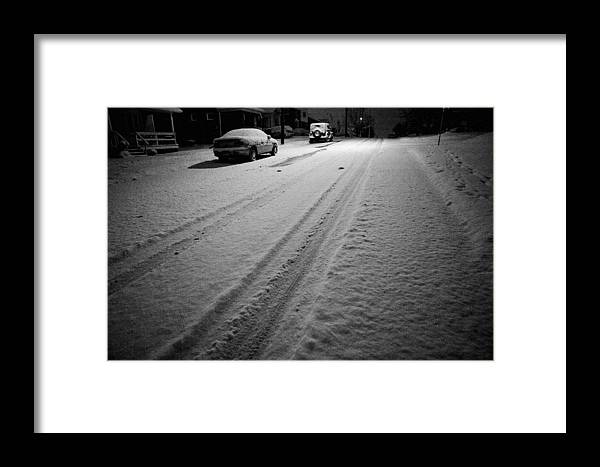 Snow Framed Print featuring the photograph Road To Nowhere by John Toxey