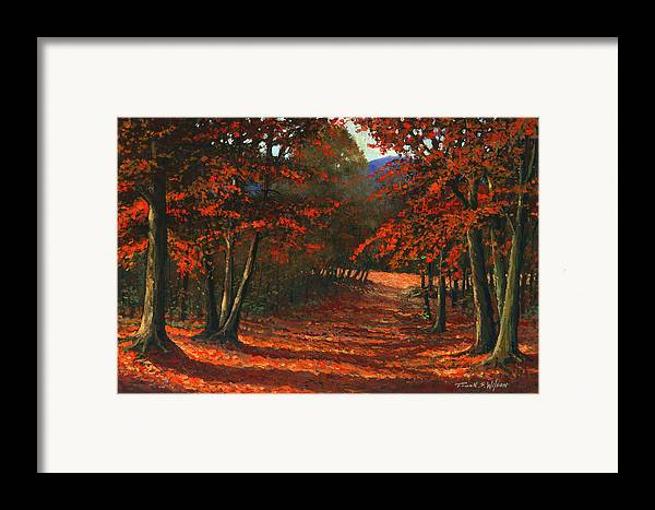 Landscape Framed Print featuring the painting Road To The Clearing by Frank Wilson