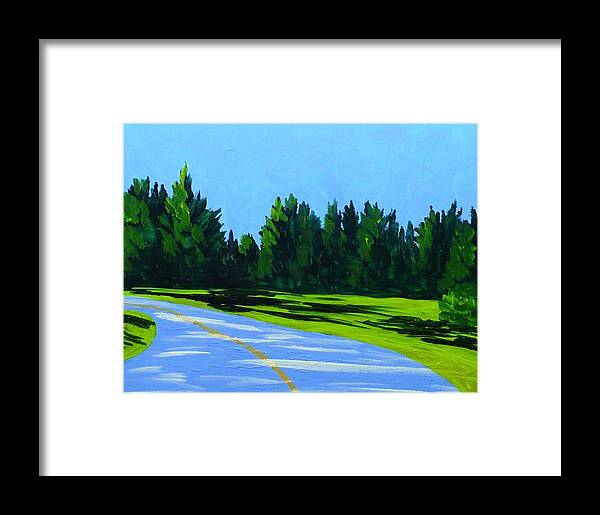 Landscape Framed Print featuring the painting Road To Uma by Laurie Breton