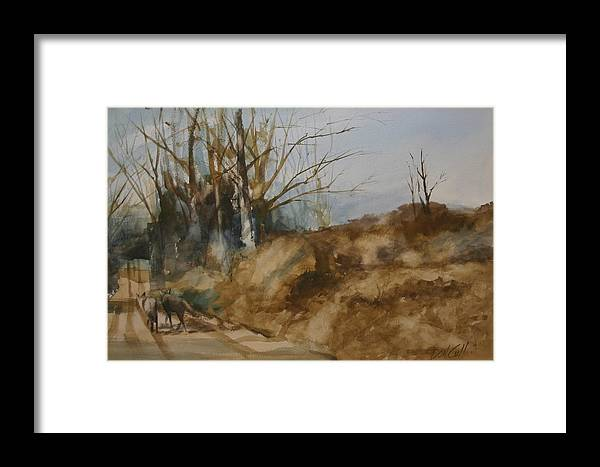 Watercolors Framed Print featuring the painting Road Warriors by Don Cull