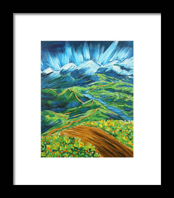 Flowers Framed Print featuring the painting Roads In The Wilderness by Gary Rowell