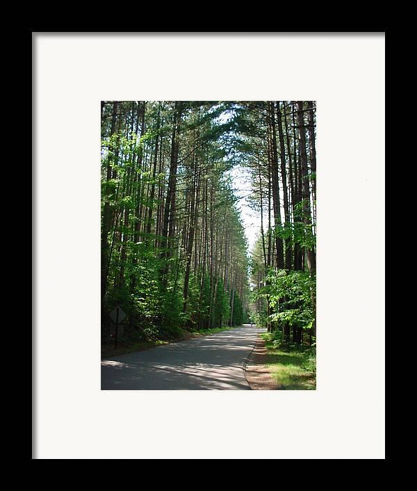 Fish Creek Framed Print featuring the photograph Roadway At Fish Creek by Jerrold Carton