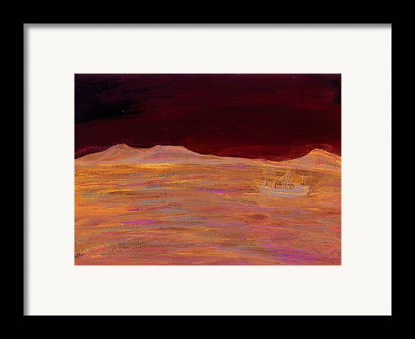 Kevin Callahan Framed Print featuring the painting Robbin Island Capetown Bay South Africa by Kevin Callahan