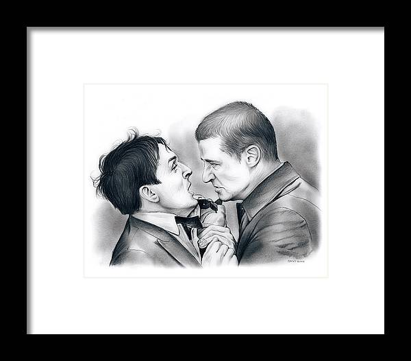 Robin Lord Taylor Framed Print featuring the drawing Robin Lord Taylor by Greg Joens