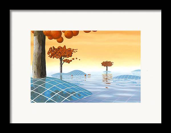 Architecture Framed Print featuring the painting Robinia Natatalis by Patricia Van Lubeck