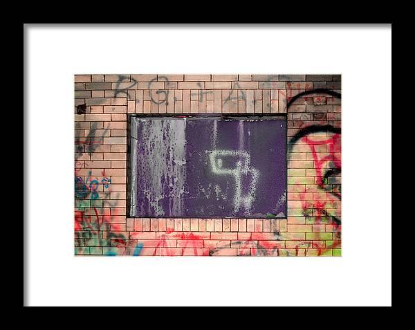 Framed Print featuring the photograph Robot Boy by Samantha Backhaus