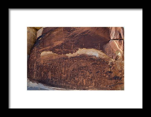 Petroglyph Panel Framed Print featuring the photograph Rochester Creek Panel by Kathleen Bishop