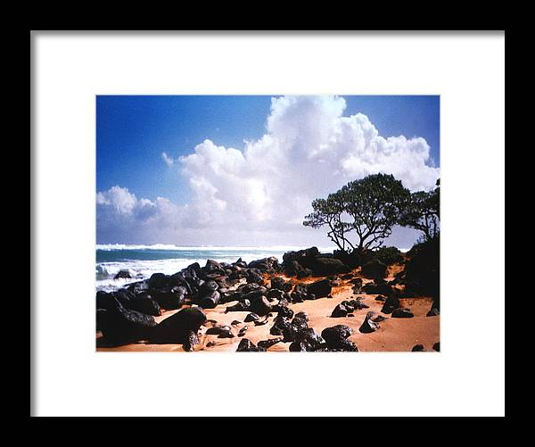 Beach Framed Print featuring the photograph Rock And Sand by Diane Merkle