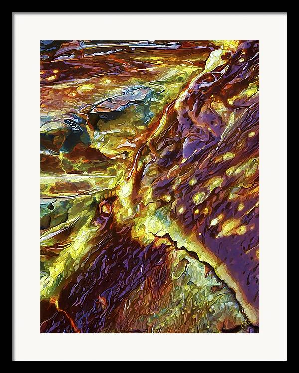 Nature Framed Print featuring the digital art Rock Art 28 by ABeautifulSky Photography