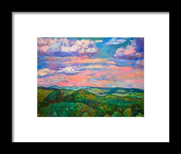 Landscape Paintings Framed Print featuring the painting Rock Castle Gorge by Kendall Kessler