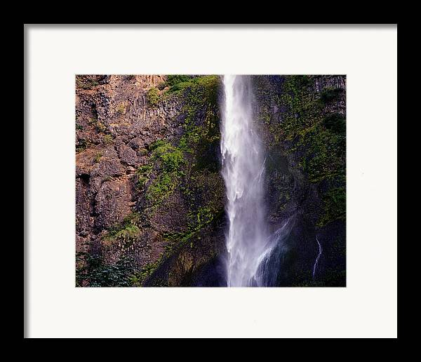 Nature Framed Print featuring the photograph Rock Falls by Benjamin Garvey