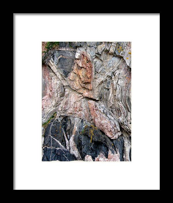Rock Framed Print featuring the photograph Rock Forms by Mike Bambridge