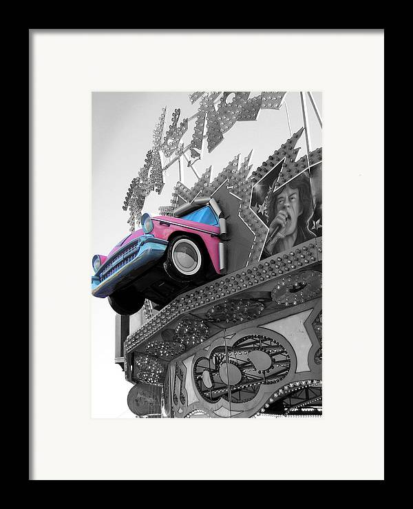 Amusement Park Framed Print featuring the photograph Rock N Roll by Heather Weikel