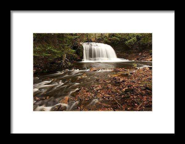 Michigan Framed Print featuring the photograph Rock River Falls by Amanda Kiplinger