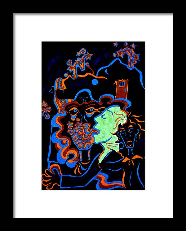 Abstract Framed Print featuring the print Rock Star by William Watson
