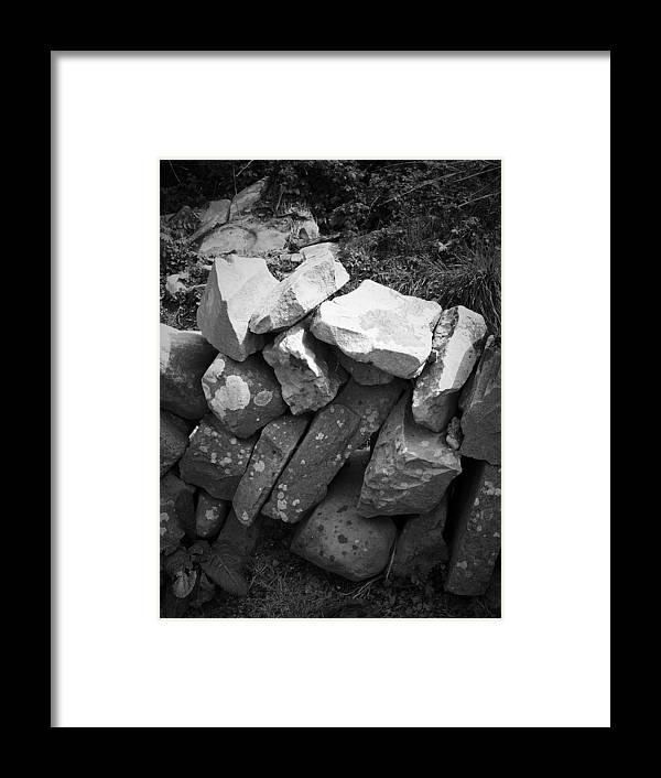 Irish Framed Print featuring the photograph Rock Wall Doolin Ireland by Teresa Mucha