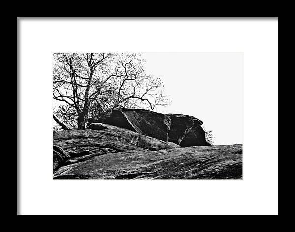 Landscape Framed Print featuring the photograph Rock Wave by Steve Karol